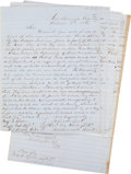 Autographs:Military Figures, Seminole Indian Documents (4),... (Total: 4 Items)