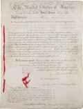 Autographs:U.S. Presidents, Andrew Jackson and Martin Van Buren Letters Patent Signed...