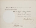 Autographs:U.S. Presidents, Woodrow Wilson Extradition Papers Signed....