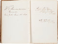Autographs:Military Figures, [Civil War]. Autograph Book....