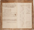 Autographs:Inventors, 19th Century Weaver's Draft Notebook,...
