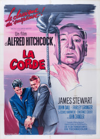 "Rope (MGM, R-1950s). French Grande (47"" X 63""). Hitchcock"