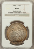 Morgan Dollars: , 1895-O $1 XF45 NGC. NGC Census: (721/2205). PCGS Population(881/1868). Mintage: 450,000. Numismedia Wsl. Price for problem...