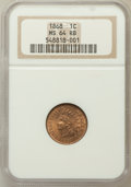 Indian Cents: , 1868 1C MS64 Red and Brown NGC. NGC Census: (147/115). PCGSPopulation (221/99). Mintage: 10,266,500. Numismedia Wsl. Price...