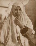 Photographs:20th Century, LEWIS WICKES HINE (American, 1874-1940). Refugee, Salonika,circa 1918. Gelatin silver, early print. 13-3/4 x 10-7/8 inc...