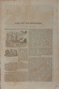 Books:Americana & American History, [Election of 1844]. Look Out for Pipelayers! [n. p., n. d.,ca. 1844]. 7 pages with verso of rear leaf a full page i...