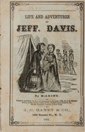 Books:Americana & American History, [Civil War]. McArone. Life and Adventures of Jeff. Davis.Haney, 1865. 31 pages. Publisher's wrappers with light rub...