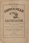 Books:Americana & American History, Fernando the Gothamite. The Copperhead Catechism. SinclairTousey, 1864. 30 pages. Publisher's wrappers, detached, w...