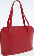Luxury Accessories:Bags, Louis Vuitton Red Epi Leather Lussac Tote Bag. ...