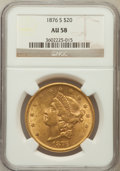 Liberty Double Eagles: , 1876-S $20 AU58 NGC. NGC Census: (2187/1732). PCGS Population(686/1408). Mintage: 1,597,000. Numismedia Wsl. Price for pro...