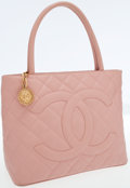 Luxury Accessories:Bags, Chanel Pink Caviar Leather Medallion Tote Bag with Gold Hardware....