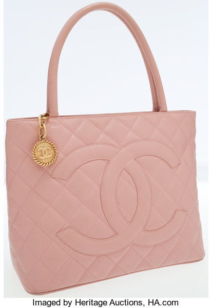 88e0dbd19d15ba Luxury Accessories:Bags, Chanel Pink Caviar Leather Medallion Tote Bag with  Gold Hardware.