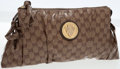 Luxury Accessories:Bags, Gucci Classic Monogram Coated Canvas Hysteria Clutch. ...
