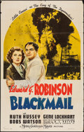 "Movie Posters:Crime, Blackmail (MGM, 1939). One Sheet (27"" X 41"") Style C. Crime.. ..."