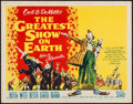"Movie Posters:Drama, The Greatest Show on Earth (Paramount, 1952). Half Sheet (22"" X 28"") Style A. Drama.. ..."