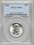 Washington Quarters: , 1946 25C MS66 PCGS. PCGS Population (260/19). NGC Census: (300/81).Mintage: 53,436,000. Numismedia Wsl. Price for problem ...