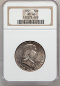 Franklin Half Dollars: , 1951 50C MS66 NGC. NGC Census: (83/4). PCGS Population (52/0).Mintage: 16,859,602. Numismedia Wsl. Price for problem free ...