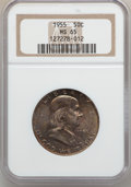 Franklin Half Dollars: , 1955 50C MS65 NGC. NGC Census: (1398/124). PCGS Population(963/73). Mintage: 2,400,000. Numismedia Wsl. Price for problem ...