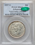 Commemorative Silver: , 1937-S 50C Arkansas MS64 PCGS. CAC. Ex: Teich Family Collection.PCGS Population (412/279). NGC Census: (311/212). Mintage:...