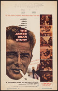 "Movie Posters:Documentary, The James Dean Story (Warner Brothers, 1957). Window Card (14"" X 22""). Documentary.. ..."