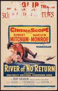 "Movie Posters:Adventure, River of No Return (20th Century Fox, 1954). Window Card (14"" X22""). Adventure.. ..."