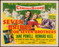 "Movie Posters:Musical, Seven Brides for Seven Brothers (MGM, 1954). Half Sheet (22"" X 28"") Style A. Musical.. ..."
