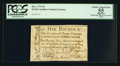 Colonial Notes:North Carolina, North Carolina December, 1771 £5 PCGS Apparent Choice About New 55.. ...