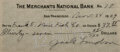 Autographs:Authors, Jack London, American Writer. Signed Personal Check. Very good....