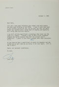 Autographs:Authors, Leon Uris, American Writer. Typed Letter Signed. Fine....