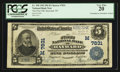 National Bank Notes:Wisconsin, Hayward, WI - $5 1902 Plain Back Fr. 598 The First NB Ch. # (M)7831. ...