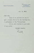 Autographs:Authors, Budd Schulberg, American Screenwriter and Novelist. Typed Letter Signed. Overall fine....