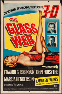 "The Glass Web (Universal International, 1953). One Sheet (27"" X 41"") 3-D Style. Crime"