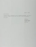 Autographs:Authors, Anne Tyler, American Writer. Typed Letter Signed. Very good....