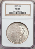 Morgan Dollars: , 1887 $1 MS64 NGC. NGC Census: (75918/29321). PCGS Population(54642/16191). Mintage: 20,290,710. Numismedia Wsl. Price for ...