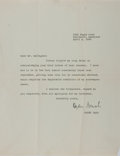 Autographs:Authors, Ogden Nash, American Poet. Typed Letter Signed. Very good....