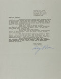 Autographs:Authors, Larry Niven, American Science Fiction Writer. Typed Letter Signed.Near fine....