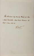 Autographs:Authors, William Makepeace Thackeray, British Writer. Autograph LetterSigned. Very good....