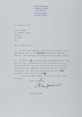 Autographs:Authors, John Mortimer, British Writer and Barrister. Typed Letter Signed.Near fine....
