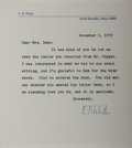 Autographs:Authors, E. B. White, American Writer. Typed Letter Signed. Overall fine....