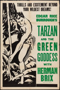 "Movie Posters:Adventure, Tarzan and the Green Goddess (Burroughs-Tarzan-Enterprise, 1938).Other Company One Sheet (28"" X 42""). Adventure.. ..."