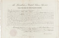 Autographs:U.S. Presidents, Abraham Lincoln Political Appointment Signed....