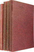 Autographs:Inventors, [Francis H. C. Crick]. Four Garden Journals with Three Maps of the Garden at Well Cottage.... (Total: 5 Items)