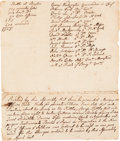 Miscellaneous:Ephemera, [Second Continental Congress]. A Resolution Concerning Supplies,with Notes on Battle Losses and Commanding Officers at the Ba...