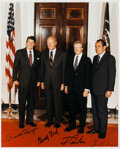 Autographs:U.S. Presidents, Photograph of Four Former Presidents Signed....
