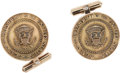 Autographs:U.S. Presidents, United States Presidential Presentation Gold Cuff Links....
