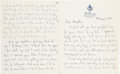 Autographs:Authors, Ayn Rand Autograph Letter Signed... (Total: 2 Items)