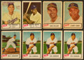 Baseball Cards:Lots, 1954 Dan Dee Potato Chips Collection (13) With HoFers! ...