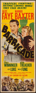 "Movie Posters:Adventure, Barricade (20th Century Fox, 1939). Insert (14"" X 36""). Adventure....."