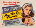 "Movie Posters:Romance, From This Day Forward (RKO, 1946). Half Sheet (22"" X 28"") Style B. Romance.. ..."