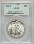 Walking Liberty Half Dollars: , 1943-D 50C MS65 PCGS. PCGS Population (3005/1828). NGC Census:(1746/1662). Mintage: 11,346,000. Numismedia Wsl. Price for ...